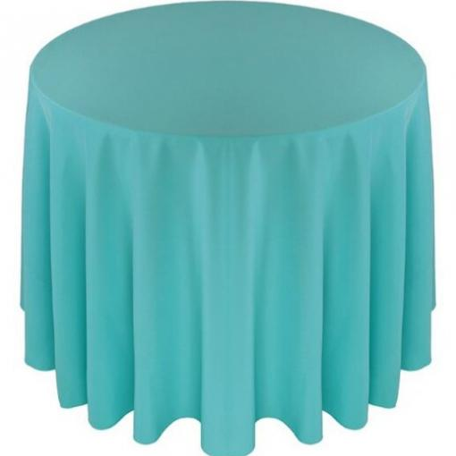 Nappe ronde turquoise