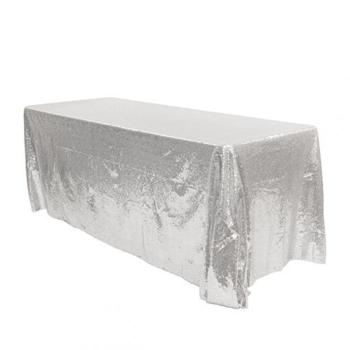 Nappe strass rectangulaire argent