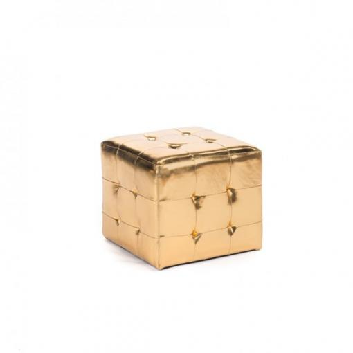 Pouf Chesterfiled gold