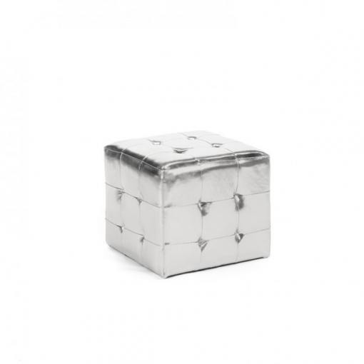 Pouf Chesterfiled silver