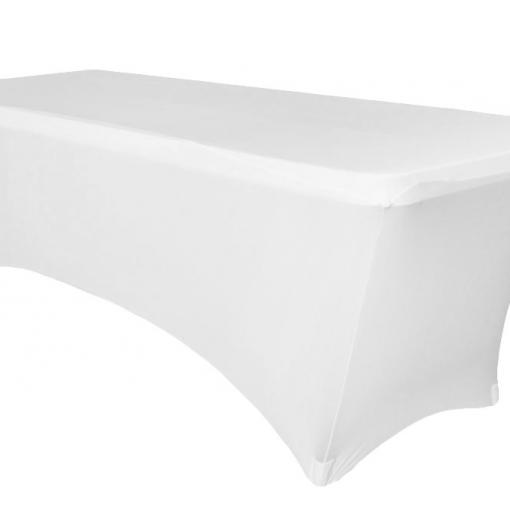 Housse de table rectangulaire blanche