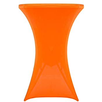 Housse table haute orange